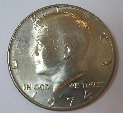 1974-D John F Kennedy Clad Half Dollar Choice BU Condition From Mint Set  DUTCH