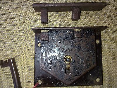 box or trunk lock, Jubilee Patent, warded lock, 72 mm, antique, (SA77)