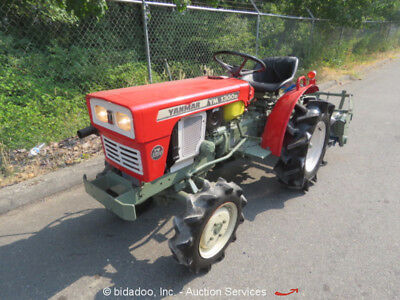 """Agricultural Farm Utility Tractor 42"""" Rear Tiller 4WD Diesel PTO 3 Point Hitch"""