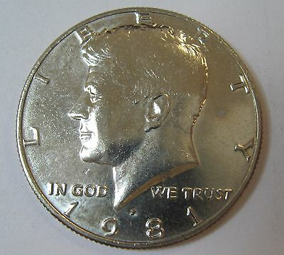 1981-P John F Kennedy Clad Half Dollar Choice BU Condition From Mint Set  DUTCH