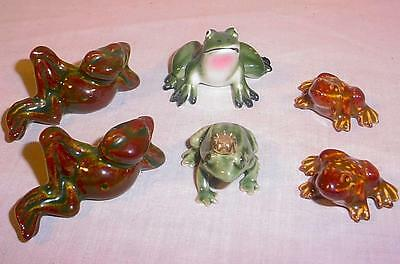 Lot Of Vintage Miniature Ceramic Porcelain Frog Figurines