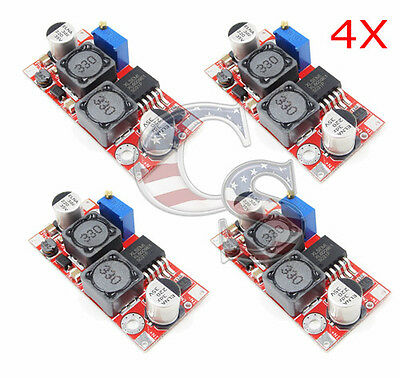 4 Pcs Xl6009 Dc-Dc Adjustable Step-Up Power Converter Module Replaces Lm2577