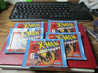 1996 Fleer Skybox Marvel X-Men Sanctuary Sticker Pack X 5
