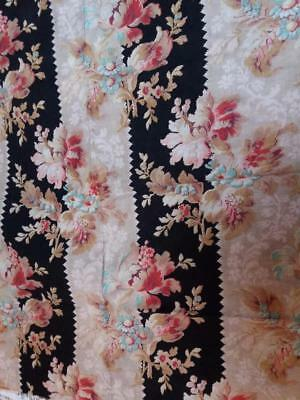 Vintage Victorian Floral Cotton Cretonne ?french? Fabric Sewing Crafts
