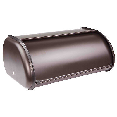 Home Basics Stainless Steel Cake Bread Box Kitchen Food Storage Container Bronze