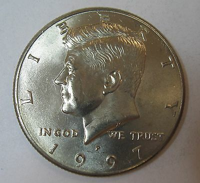 1997-P John F Kennedy Clad Half Dollar Choice BU Condition From Mint Set  DUTCH