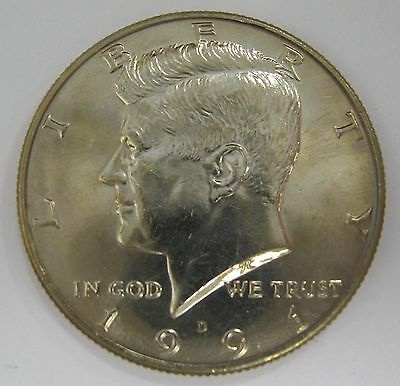1991-D John F Kennedy Clad Half Dollar Choice BU Condition From Mint Set  DUTCH