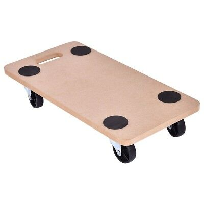 440lbs Platform Wood Dolly Rectangle Utility Cart Transport Heavy Loads Items US