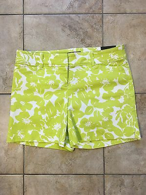 NWT The Limited Green White Floral Shorts Size 4