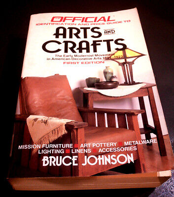 Official ID  Price Guide to Arts  Crafts lst Ed 1988 Mission Furn Art Pottery