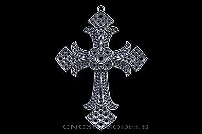 3D Model STL for CNC Router Engraver Carving Artcam Aspire Religion Cross e904