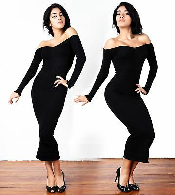 Cocktail Party Dress Bandage Sexy Sweater Dress Boho Chic Made In USA