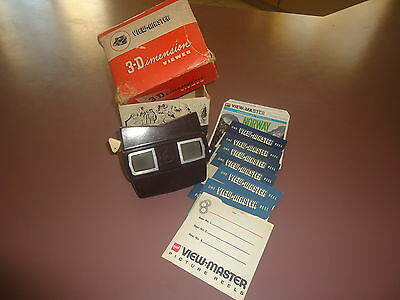 Boxed Vintage Bakelite Sawyer 3 Dimension Viewmaster Model E Made In Usa 8 Reels