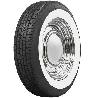 """American Classic 2 1/4"""" Wide White Wall Tire Perfect For VW Beetle 165R15"""