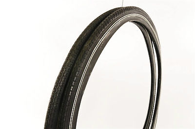 PAIR (2) WHEEL CHAIR TYRES 24x1 3/8 BLACK WITH WHITE LINE ALSO SUIT VINTAGE BIKE