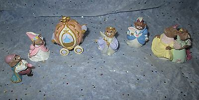 HALLMARK Merry Miniatures Lot of 6 Cinderella Collection 1995