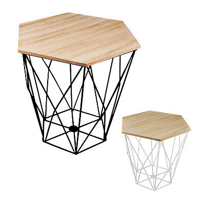 Side Table Night Table Design Table Living Room Table Metal Stable Wood Plate