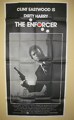 THE ENFORCER 1977 Rare three sheet movie poster Clint Eastwood Dirty Harry