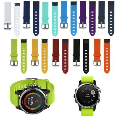 Replacement Silione Quick Install Wrist Band Strap For Garmin Fenix 5S Watch