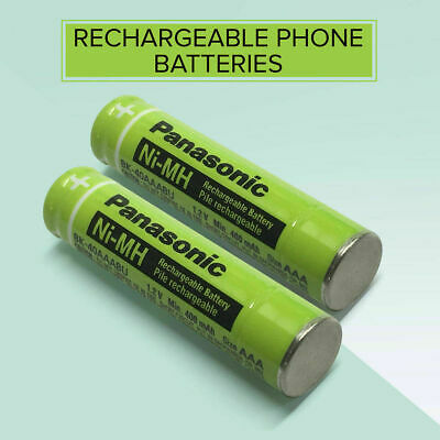 2X PANASONIC 1.2V  BK-40AAAB Ni-Mh Rechargeable CORDLESS PHONE Batteries KX-TG
