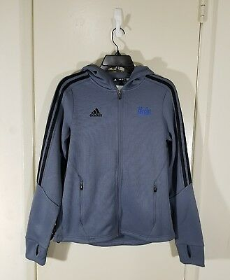 UCLA Bruins Adidas Women s Climawarm Zip Up Hoodie - Gray - NCAA Size Small 73fecb814