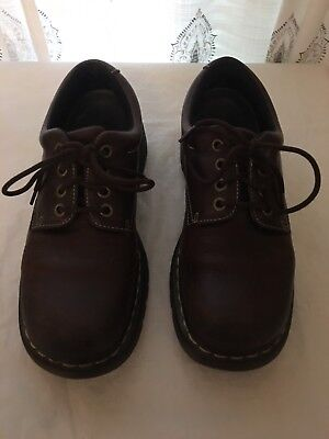 Men's Doc Martens Brown Leather Low Top Boots Size 11M