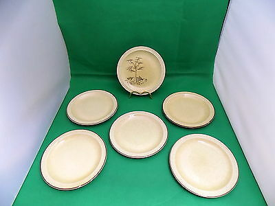 Poole Pottery Broadstone Side Plates x 6