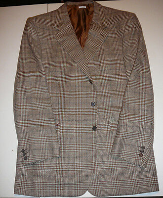 BRIONI - Cashmere Blend - Brown & White Plaid Sport Coat - 46 L