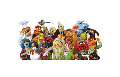 The Muppets Cast Aluminum License Plate, Custom Printed