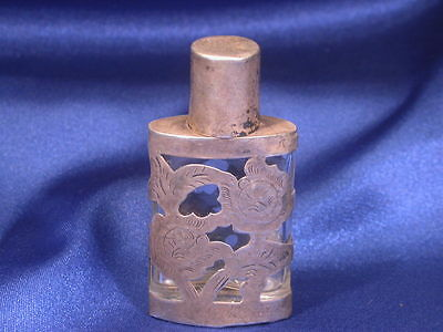 Sterling Perfume Bottle, Mexican – Good Estate Condition