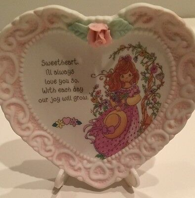 Precious Moments Miniature Porcelain Plate Sweetheart I'll Always Love You So