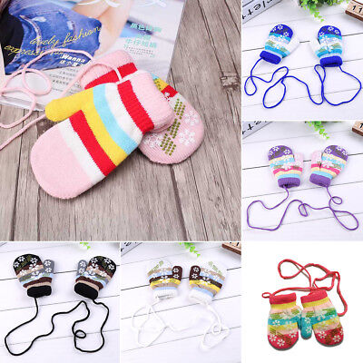 Lovely Winter Warmer Toddlers Girls Boys Baby Kids Knitting Gloves Mittens New
