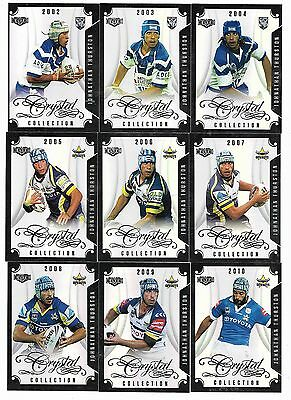 2017 NRL Elite Johnathan THURSTON Crystal Collection (15 cards)