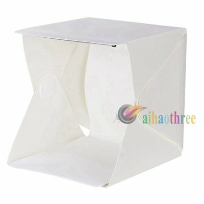 24x24x22cm Mini Light Tent Photo Studio Box With USB LED Backdrop Background【AU】