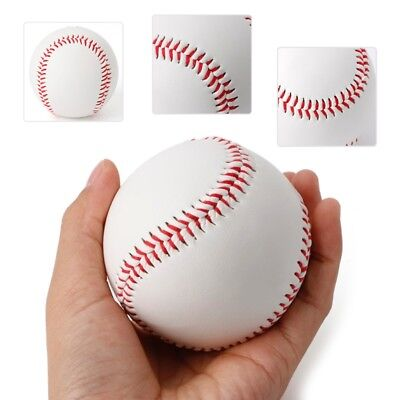 "9"" Soft Sport Game Practice Training Base Ball BaseBall Softball White PVC New"