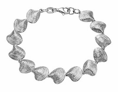 Sterling Silver Clam Shell Bracelet - BR128