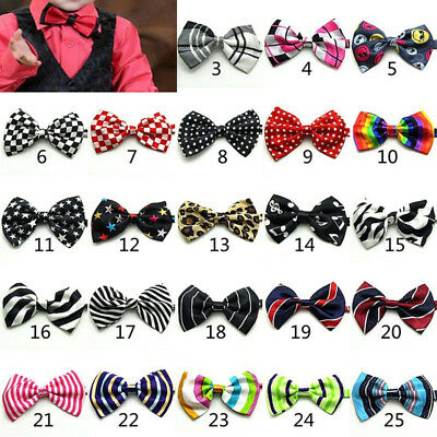 Novelty Boys Kids Children Toddler Bow Tie Necktie Bowtie Pre-Tied Wedding Party