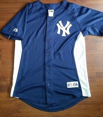 mlb - new york baseball jersey - size youth large / small adult