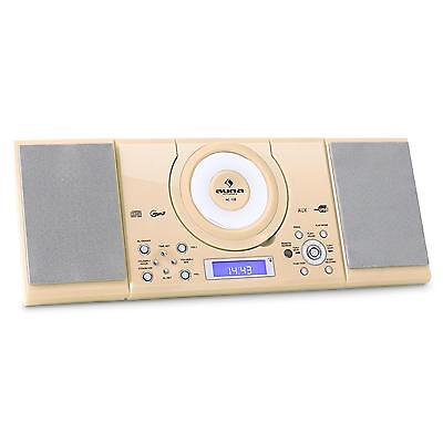 Top Auna Mc-120 Kinderzimmer Stereoanlage Mp3 Cd Spieler Ukw Radio Creme