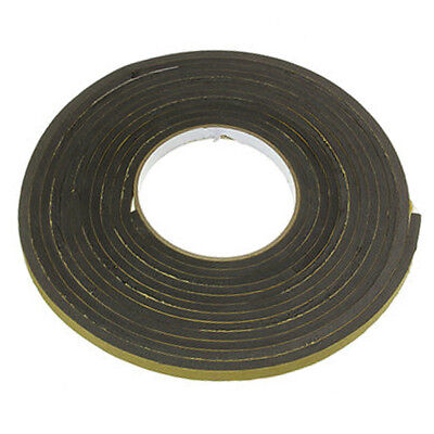 5M Door Window Foam Draught Excluder Adhesive Roll Tape Weather Seal Strip Black