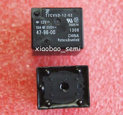 2PCS T7CV5D-12-02 T7CV5D-12 Potter & Brumfield (TE) ORIGINAL Relay 5PIN