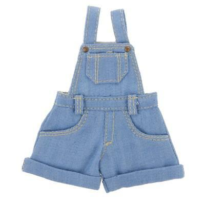 Casual Suspender Jeans Pants W/Pocket for 12inch Takara Blythe Doll Dress Up