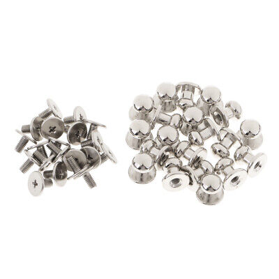 20 Pieces Metal Round Screw Back Spike Studs Rivets Press Pins Leather Crafts