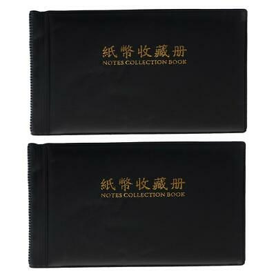 Banknote Album 30 Page Notes Paper Money Collection Book Holder Protector PU