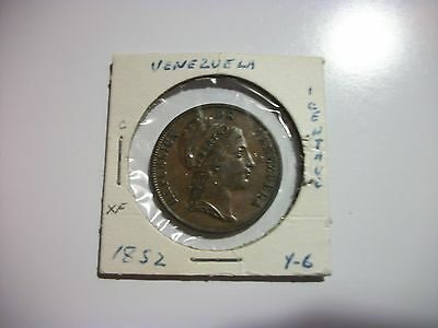 Venezuela 1852 1 Centavos Copper  coin