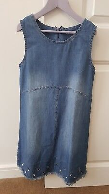 Girls Denim Dress From River Island Age 9 yrs exc condition