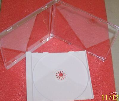 100 High Quality 10.4Mm Standard Cd Jewel Cases & 100 White Trays Bl100&lz01Pk