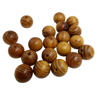 25pcs 25mm Round Wooden Beads Loose Spacer Charms for Jewelry Making DIY
