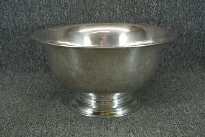 """Large Footed Silver Plated Punch Bowl 14.5"""" Wide"""