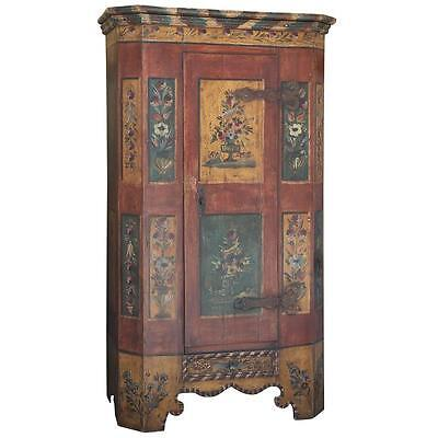 Antique Hand Painted Italian Armoire